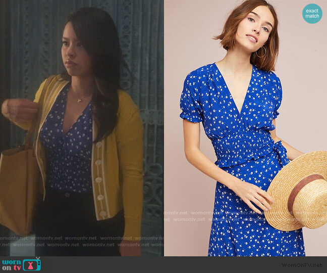 Faithfull Betina Floral Top by Anthropologie worn by Mariana Foster (Cierra Ramirez) on Good Trouble
