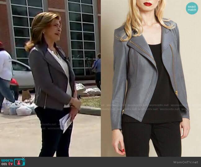 Faux Leather Jacket by Clara Sunwoo worn by Hoda Kotb  on Today