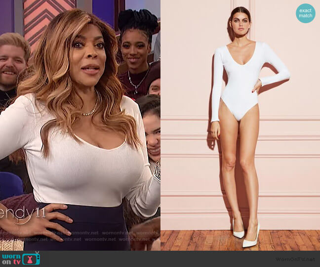 Bodysuit by Fleur du Mal worn by Wendy Williams  on The Wendy Williams Show