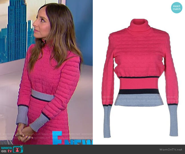 Flosi Turtleneck Sweater by Mary Katrantzou worn by Lilliana Vazquez  on E! News