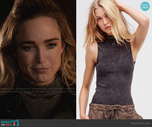 Free People No Looking Back Washed Cami worn by Sara Lance (Caity Lotz) on Arrow