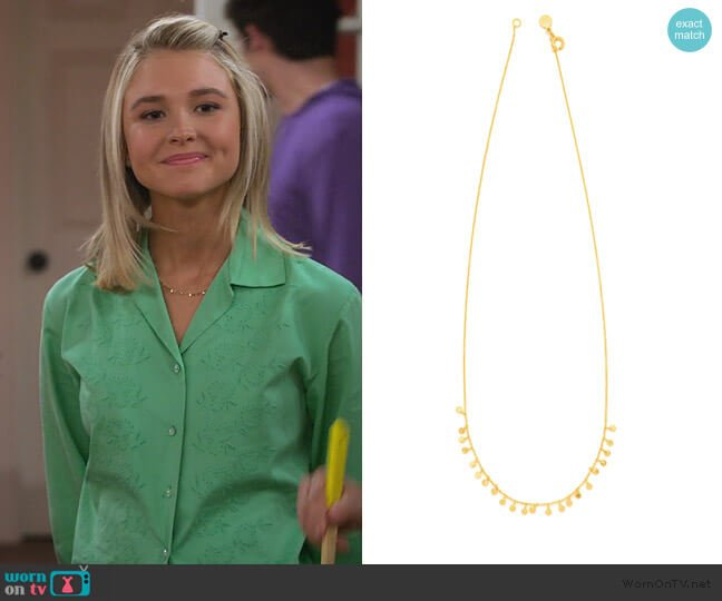 Chloe Mini Necklace by Gorjana worn by Katie Cooper (Isabel May) on Alexa & Katie
