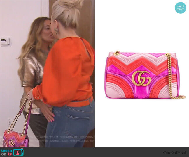 Marmont bag by Gucci worn by Margaret Josephs  on The Real Housewives of New Jersey