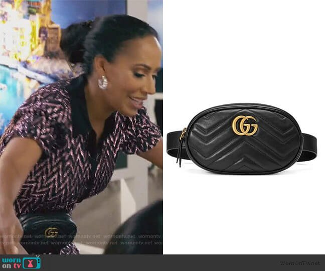 GG Marmont Matelasse Belt Bag by Gucci worn by Tanya Sam on The Real Housewives of Atlanta