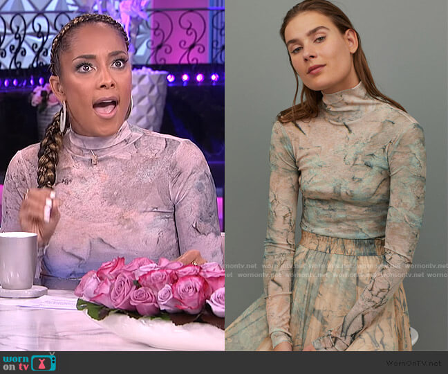Turtleneck Top by H&M worn by Amanda Seales  on The Real