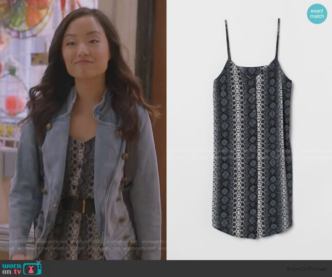 Dress with Buttons by H&M worn by Janet (Andrea Bang) on Kims Convenience