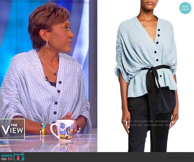 Lotus Top by Hellessy worn by Robin Roberts on The View