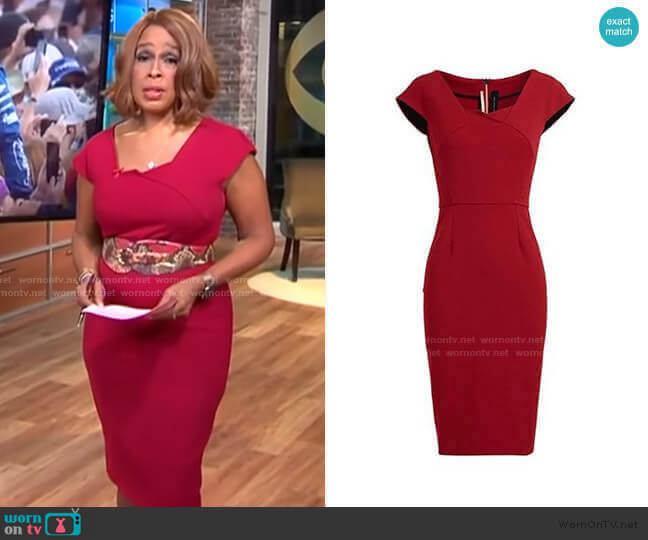Hirta Dress by Roland Mouret worn by Gayle King  on CBS This Morning