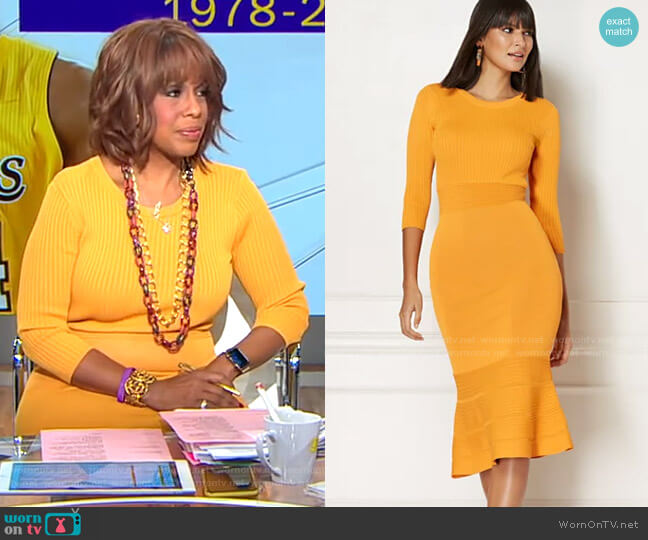 Ina Sweater Dress - Eva Mendes Collection by New York & Company worn by Gayle King  on CBS This Morning