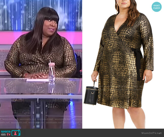 Metallic Animal-Print Dress by INC International Concepts worn by Loni Love  on The Real