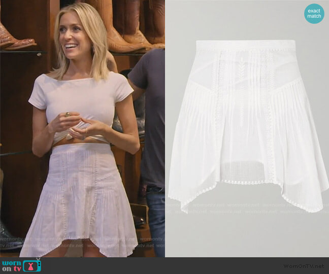 Akala Mini Skirt by Isabel Marant Etoile worn by Kristin Cavallari  on Very Cavallari