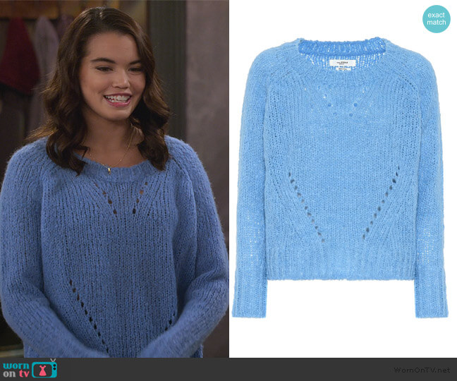 Shields alpaca-blend sweater by Isabel Marant Etoile worn by Alexa Mendoza (Paris Berelc) on Alexa & Katie