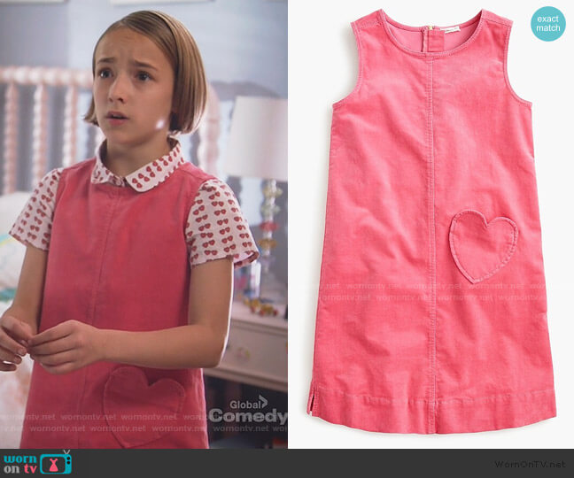 Corduroy Dress with Heart Pocket by J. Crew worn by Marlow Barkley on Single Parents