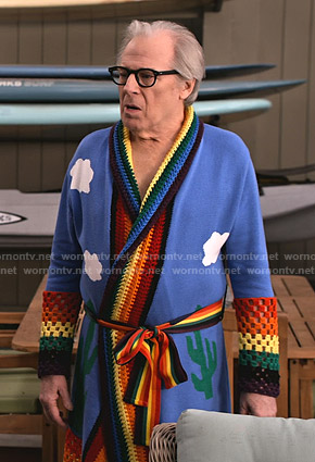 Jack's rainbow robe on Grace and Frankie