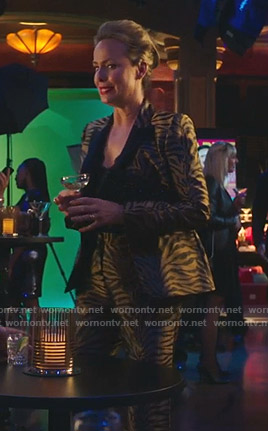 Jacqueline's zebra print suit on The Bold Type
