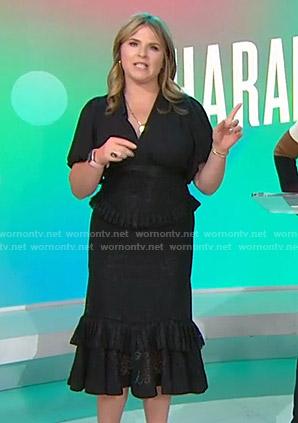 Jenna's black tiered midi dress on Today