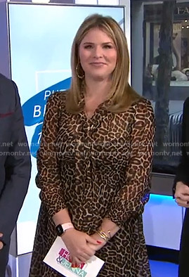 Jenna's leopard print tie neck dress on Today