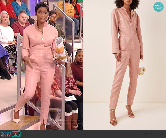 Vegan Leather Jumpsuit by Jonathan Simkhai worn by Tamron Hall  on Tamron Hall Show