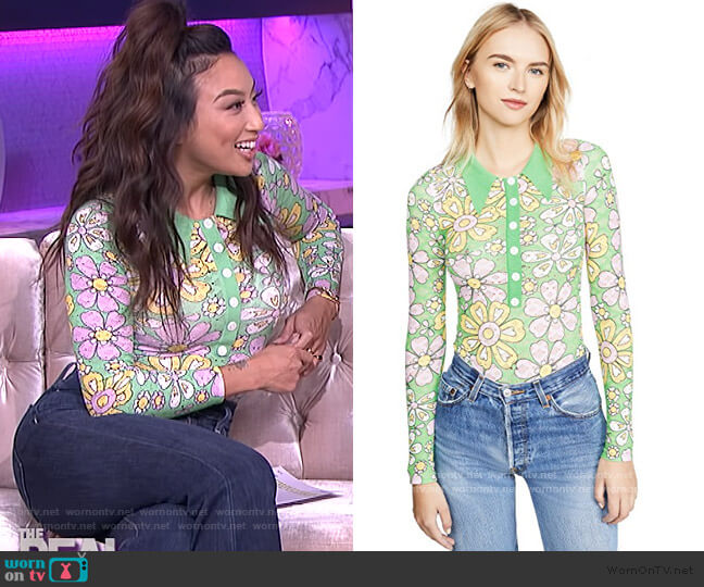 Long Sleeve Bodysuit by JoosTricot worn by Jeannie Mai  on The Real