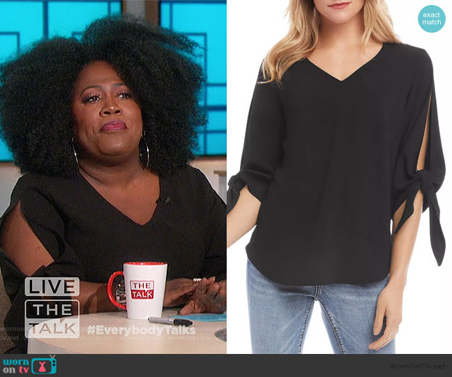 Tie-Sleeve Top by Karen Kane worn by Sheryl Underwood  on The Talk