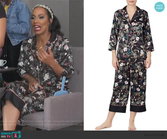 Botanical Crop Pajamas by Kate Spade worn by Tanya Sam on The Real Housewives of Atlanta