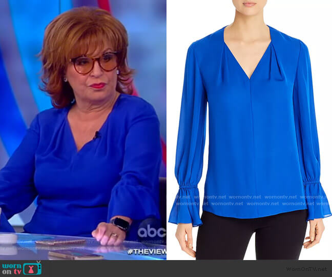 Kitty Silk Blouse by Kobi Halperin worn by Joy Behar  on The View