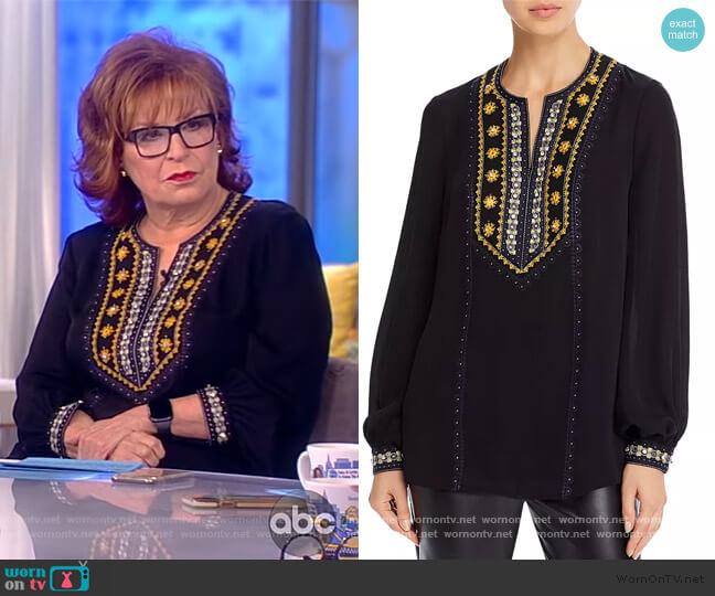 Sandi Embellished Silk Blouse by Kobi Halperin worn by Joy Behar  on The View