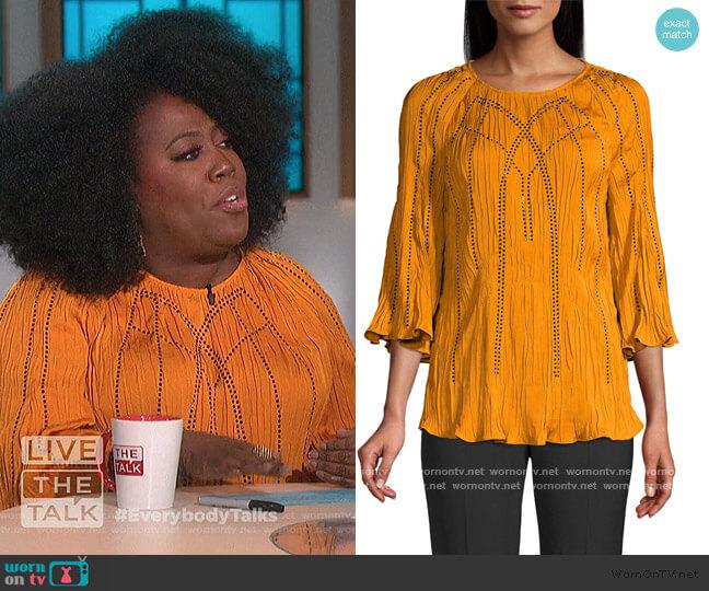 Steffi Embellished Blouse by Kobi Halperin worn by Sheryl Underwood  on The Talk