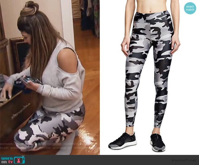Lustrous High Rise Leggings by Koral worn by Teresa Giudice  on The Real Housewives of New Jersey