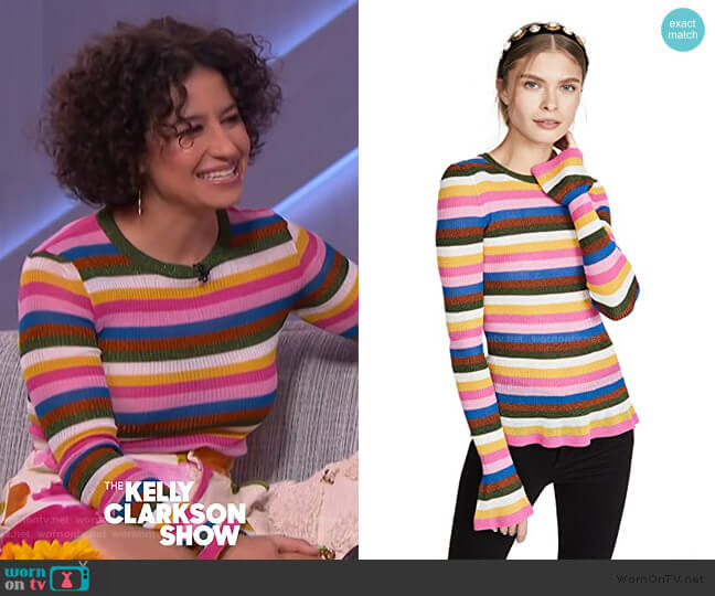 Striped Jumper by LA Doublej worn by Ilana Glazer on The Kelly Clarkson Show