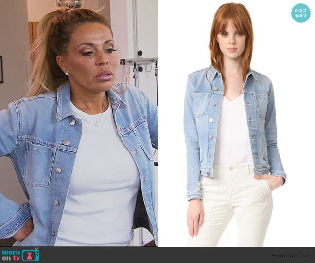 Celine Slim Femme Jacket by L'Agence worn by Dolores Catania  on The Real Housewives of New Jersey