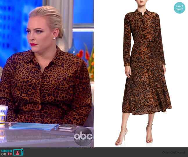 Augustina Leopard Printed Midi Dress Lafayette 148 worn by Meghan McCain  on The View