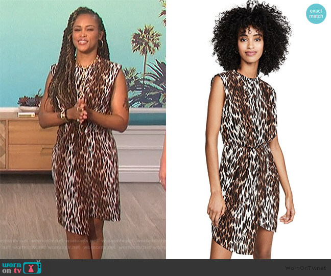 Cipriana Asymmetrical Dress by L'Agence worn by Eve  on The Talk