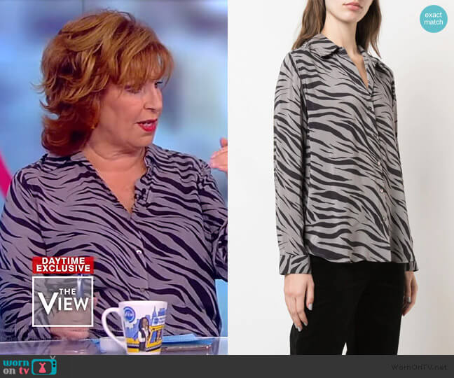 Nina Zebra Print Blouse by L'Agence worn by Joy Behar  on The View