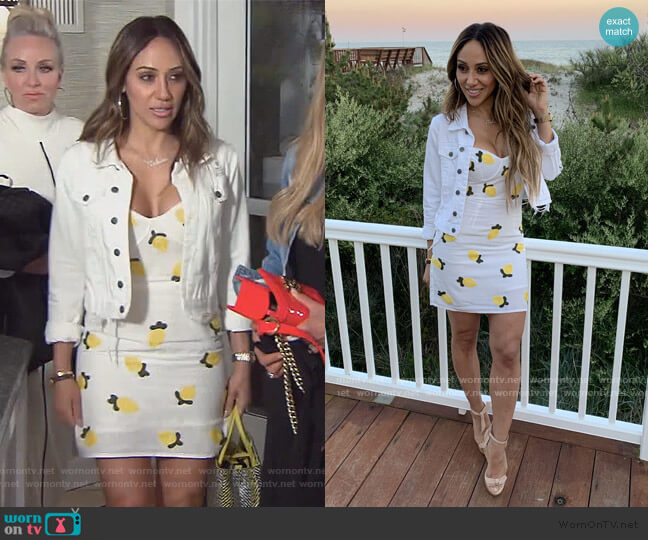 Lemon Squeeze Dress by Red Carter at Envy worn by Melissa Gorga  on The Real Housewives of New Jersey
