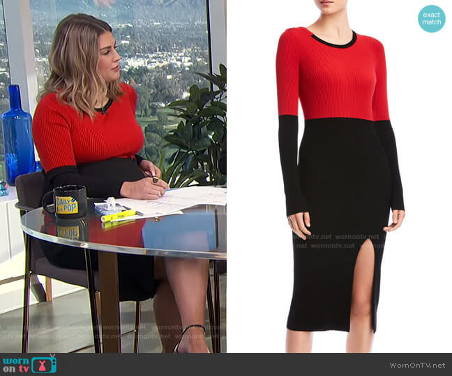 Lenna Sweater Dress by Bailey 44 worn by Carissa Loethen Culiner  on E! News