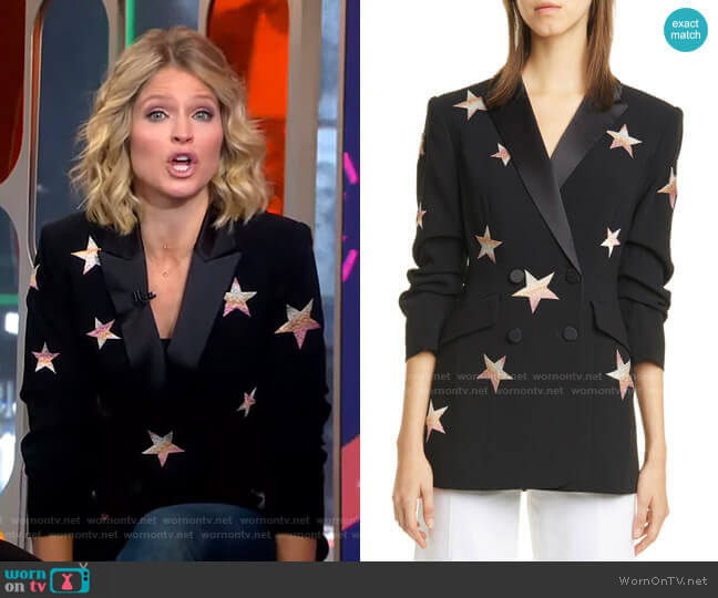 Lila Star Blazer by Cinq a Sept worn by Sara Haines  on Good Morning America