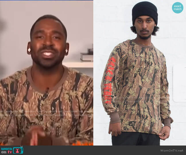 Long Sleep HT Trap Tee by Coal n Terry worn by Justin Sylvester  on E! News
