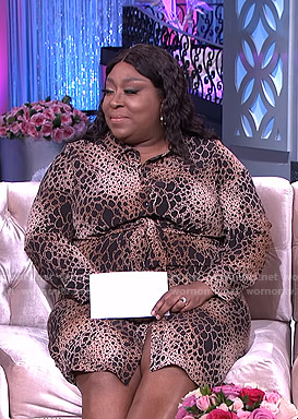 Loni's animal print shirtdress on The Real