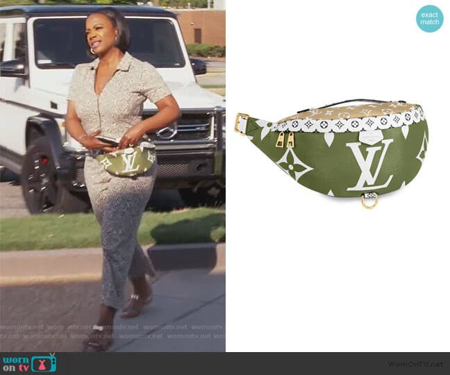 Monogram Bumbag by Louis Vuitton worn by Kandi Burruss  on The Real Housewives of Atlanta