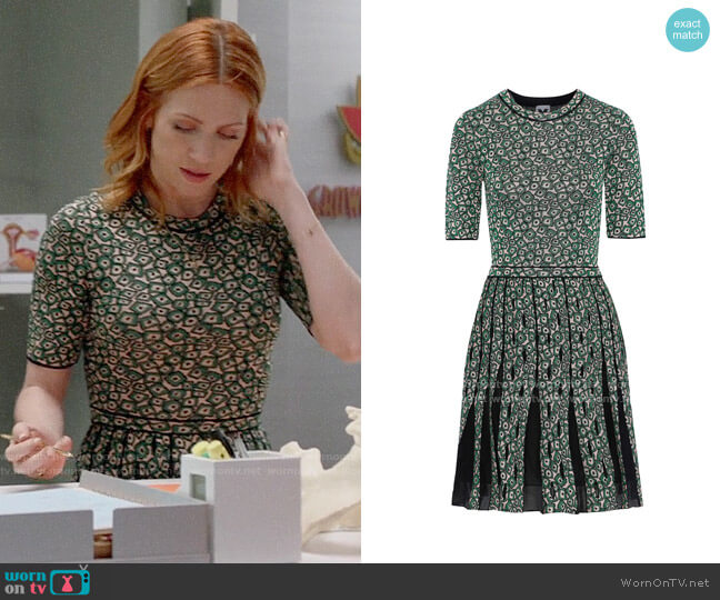 M Missoni Pleated jacquard-knit mini dress worn by Julia Bechley (Brittany Snow) on Almost Family