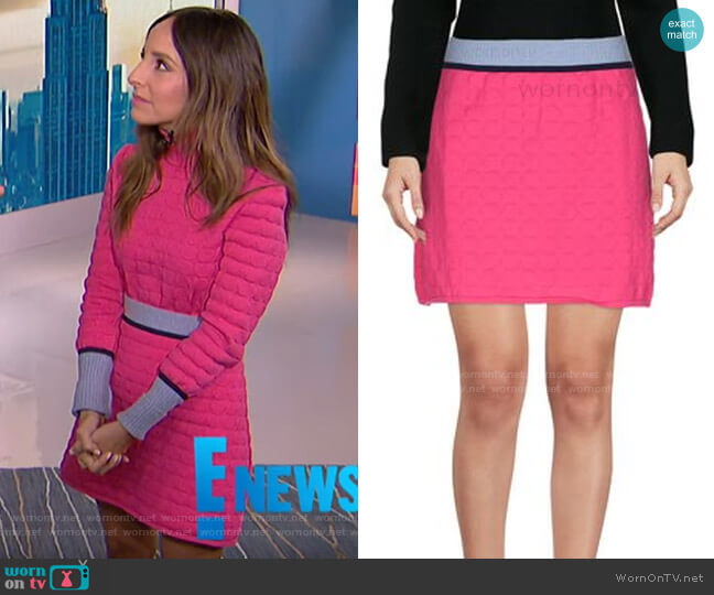 Knit Mini Skirt by Mary Katrantzou worn by Lilliana Vazquez  on E! News