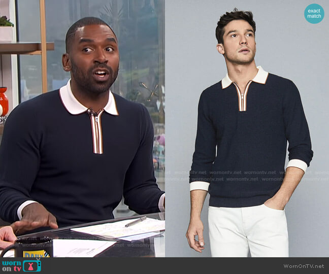 Mauritizio Polo by Reiss worn by Justin Sylvester  on E! News