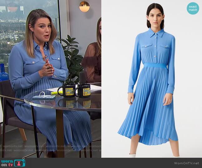 Gathered Waist Shirt Dress by Maje worn by Carissa Loethen Culiner  on E! News