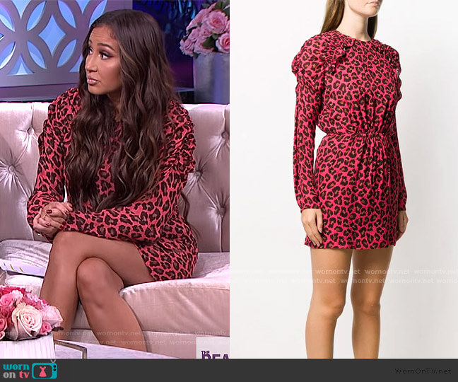 Animal Print Mini Dress by MSGM worn by Adrienne Houghton  on The Real