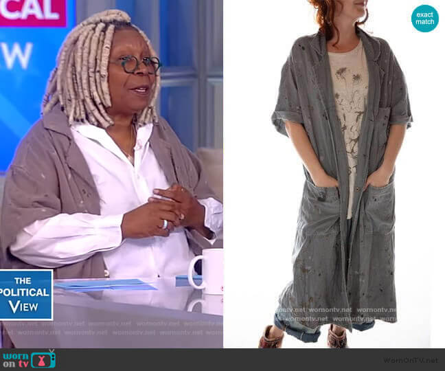 Workshop Coat by Magnolia Pearl worn by Whoopi Goldberg  on The View