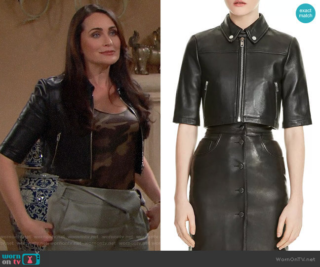 Maje Brittany Jacket  worn by Quinn Fuller (Rena Sofer) on The Bold & the Beautiful