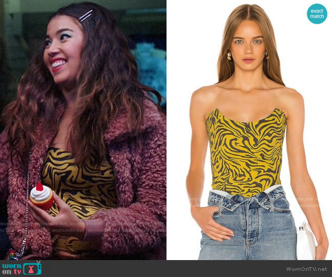 Miaou Leia Corset worn by Cheyenne (Nichole Bloom) on Superstore