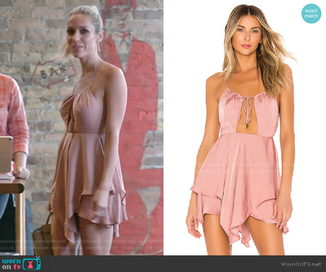 Michael Costello x Revolve Brendan Romper worn by Kristin Cavallari  on Very Cavallari