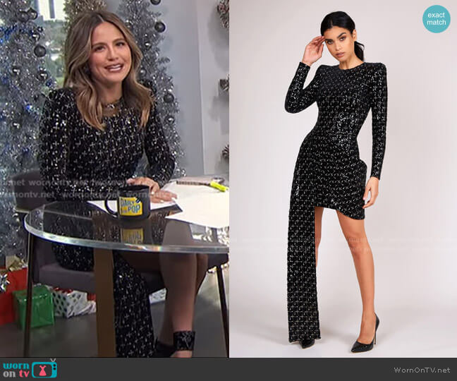 Cara Mini Dress by Nadine Merabi worn by Erin Lim  on E! News